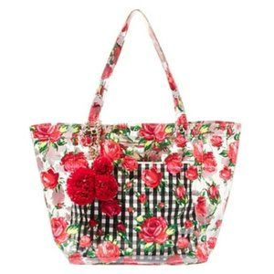 """Betsey Johnson Gingham """"THE CLEAR CHOICE TOTE"""""""